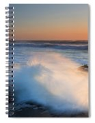 Sunset Wave Explosion Spiral Notebook