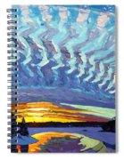 Sunset Waves Nite Spiral Notebook