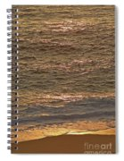 Sunset Waves Over Carmel Beach Spiral Notebook
