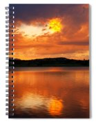 Sunset With A Golden Nugget Spiral Notebook