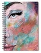 Sunset - Woman Abstract Art Spiral Notebook
