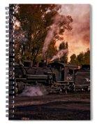 Sunset Work Dogs Spiral Notebook