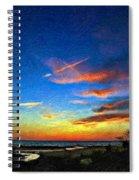 Sunset X Impasto Spiral Notebook