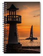 Sunsets And Sailboats Spiral Notebook