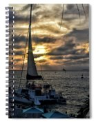 Sunsets And Sails Spiral Notebook