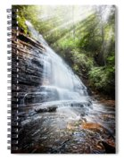 Sunshine At The Waterfall Spiral Notebook