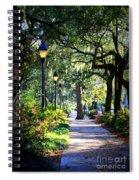 Sunshine On Savannah Sidewalk Spiral Notebook