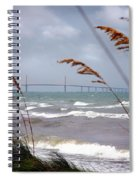 Sunshine Skyway Bridge Viewed From Fort De Soto Park Spiral Notebook