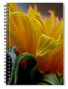 Sunshine Sunflower Petals Two Spiral Notebook