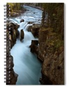 Sunwapta Falls In Jasper National Park Spiral Notebook