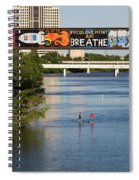 Sup Stand Up Paddle Board Couple Row Under The Focus One Point And Breathe Spiral Notebook