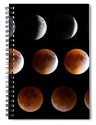 Super Blood Moon Eclipse Spiral Notebook