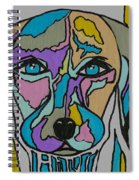 Super Hero - Contemporary Dog Art Spiral Notebook