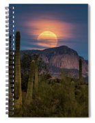 Super Moon 2018 - Wolf Moon  Spiral Notebook