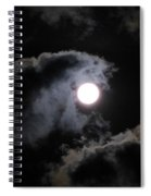 Super Moon Held In The Arc Of Clouds Spiral Notebook
