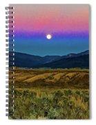 Super Moon Over Taos Spiral Notebook