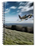 Supermarine Spitfire Fly Past Spiral Notebook
