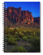 Superstition Mountain Sunset Spiral Notebook