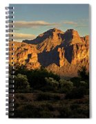 Superstitions At Sunset  Spiral Notebook