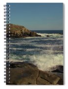 Surf At Nubble Light Spiral Notebook