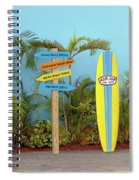 Surf Boards At Ron Jon's Spiral Notebook