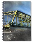 Surf City Nc Swing Bridge Spiral Notebook