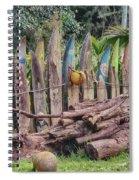 Surfboard Fence Hawaii Spiral Notebook