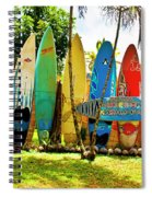 Surfboard Fence II-the Amazing Race Spiral Notebook