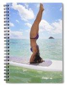 Surfboard Headstand Spiral Notebook