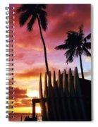 Surfboard Sunset Spiral Notebook