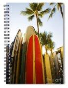 Surfboards At Waikiki Spiral Notebook