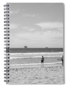 Strollin On Dog Beach Spiral Notebook