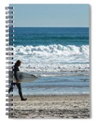Surfer And His Board Spiral Notebook