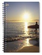 Surfer At Sunrise Spiral Notebook