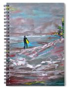 Surfer On A Foggy Day Spiral Notebook
