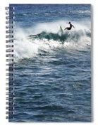 Surfer Riding A Wave Spiral Notebook