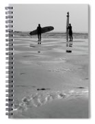 Surfer Silhouettes Spiral Notebook