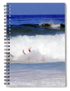 Surfers At Asilomar State Beach Three Oopsy Daisy Spiral Notebook