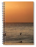 Surfers At Sunset Spiral Notebook