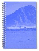 Surfers On Morro Rock Beach In Blue Spiral Notebook
