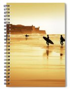 Surfers Silhouettes Spiral Notebook