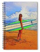 Surfing 19518 Spiral Notebook