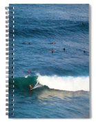 Surfing At Honolua Bay Spiral Notebook