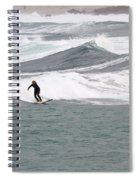 Surfing At Sennen Cove Cornwall Spiral Notebook