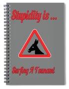 Surfing Bigstock  Donkey 171252860 Spiral Notebook