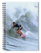 Surfing Bogue Banks 3 Spiral Notebook