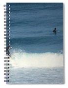 Surfing Carmel Beach Two Spiral Notebook