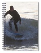 Surfing Narragansett Spiral Notebook