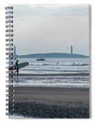 Surfing On Good Harbor Beach Gloucester Ma Spiral Notebook