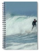 Surfing On The Oregon Coast Spiral Notebook